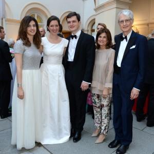 Martino Zanetti e signora con gli sposi e Beatrice Zanetti
