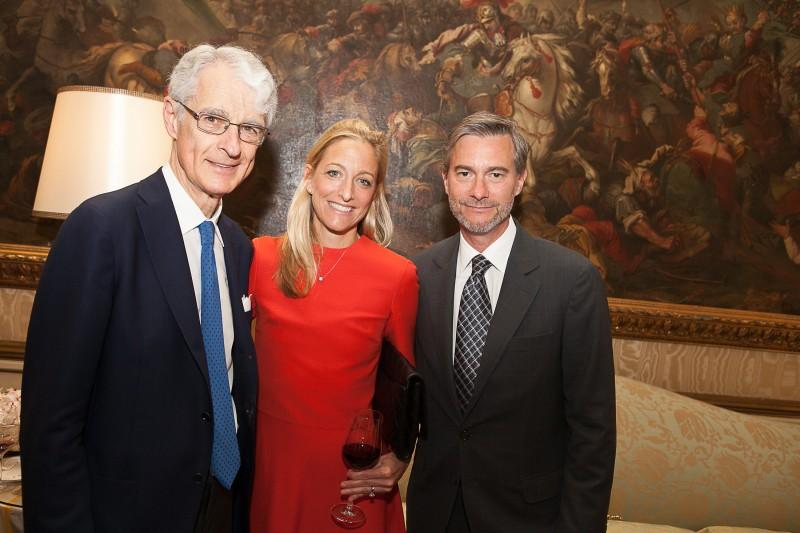 Martino Zanetti con Alexa Wisner, Ambasciatrice degli Stati Uniti a Vienna e il marito